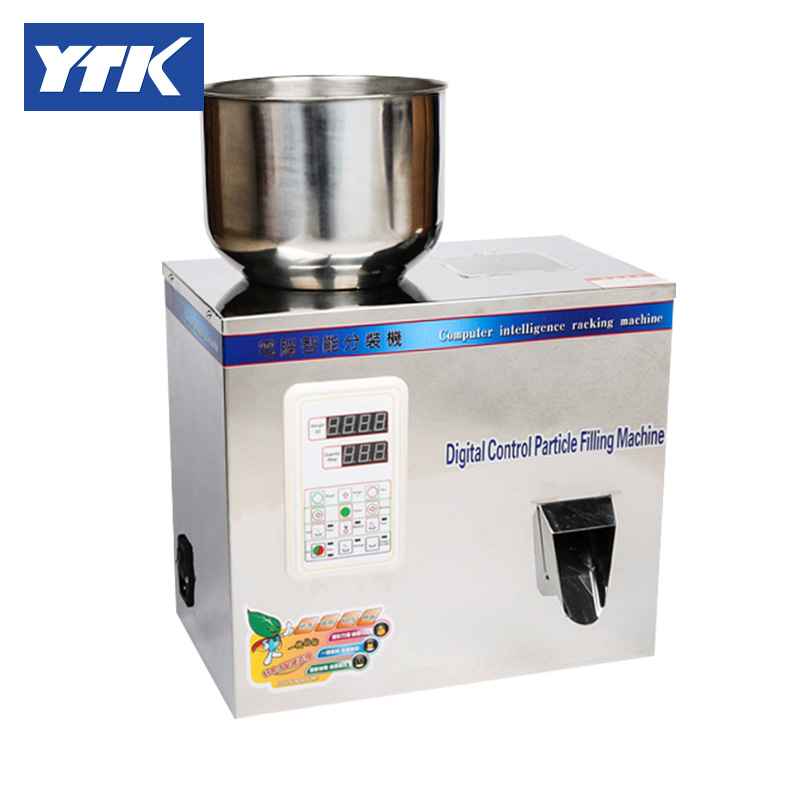 2-100g Particle Filling Machine for Powder Tea Bean Seed Particle ytk 2 100g powder tea bean seed particle automatic weighing filling machine