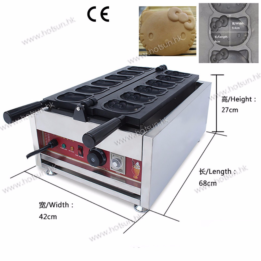 New Style Commercial Electric Cartoon Animal Shaped Mini Waffle Maker Machine