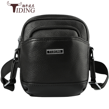 Crossbody Black Mini Travel Bags Cow Leather Men 2018 Small Brand Casual Mini Capacity Phone Business Fashion Shoulder Bags