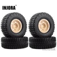 """INJORA 4Pcs Plastic 1.9"""" Wheel Rim Tires Set for 1/10 RC Crawler Car Axial SCX10 90046 Tamiya CC01 D90 D110 3"""