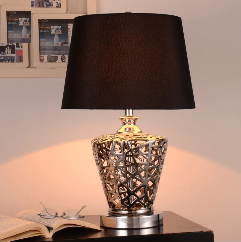 60cm Height Petronas Towers Inspired Table Lamp with Fabric Shade barchester towers