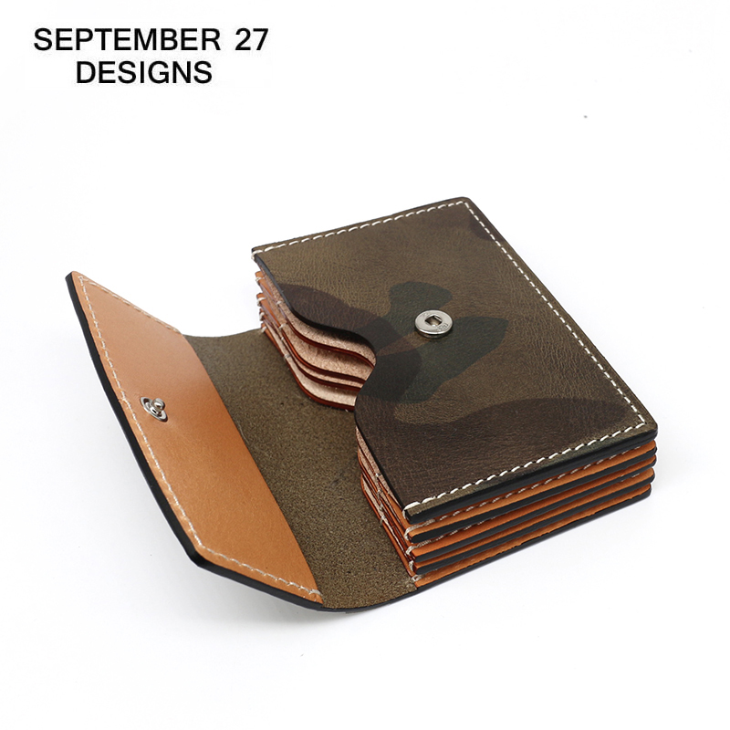 Credit Card Wallets Genuine Leather Luxury Male Card Case High Quality Cowhide Camouflage Women Purses ID Bus Bank Card Holder
