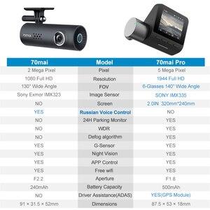 Image 3 - 70mai 대시 캠 프로 스마트 자동차 1944P HD 비디오 녹화 GPS ADAS 와이파이 기능 140 FOV 소니 카메라 영어 음성 제어