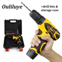 Mini Electric Impact Drill Screwdriver Cordless 12V Wireless Power Drill Driver Rechargeable Lithium Battery With Box/Carton