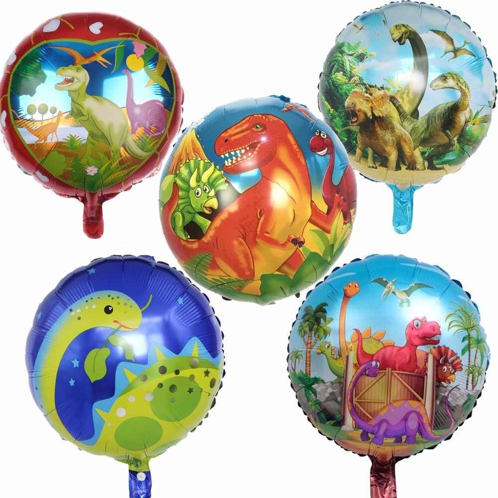 1pc Dinosaur Balloon Baby Boy Party Decor Kids Happy Birthday Decorations Jurassic Dino Ballon