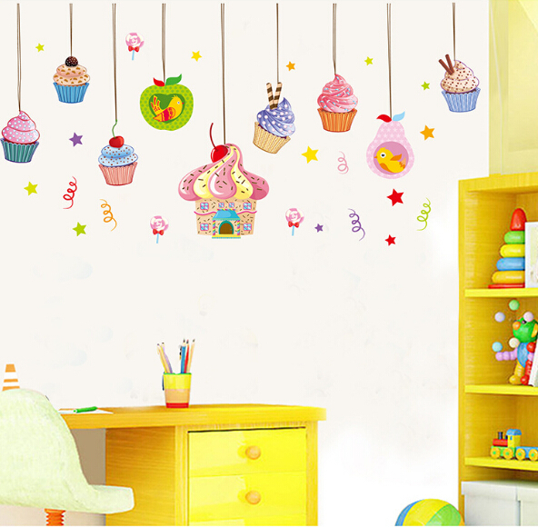 2015 Unique Design Children Favorite Ice Cream Background Wall