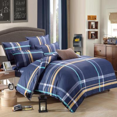 4pcs Owl Fish dog cartoon Bedding Set For Children Kids Printed Pattern Bed Duvet cover/Pillowcase /flat sheet Bedclothes Cotton