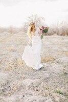 Bohemian 2016 Beach Boho Bridal Gowns Sweetheart Sheath Style Lace Country Long Sleeves Wedding Dresses