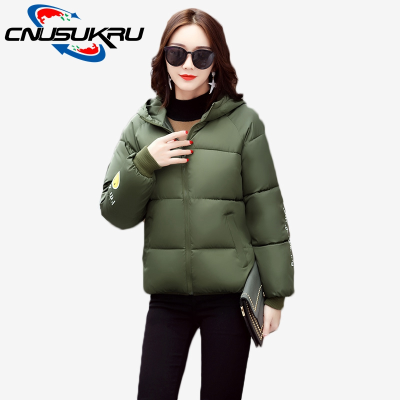 CNUSUKRU Store  latest listing Hot Sale Bread Wide-waisted Winter Jacket Women 2017 new Large size Short casual Down Cotton Coat Warm outerweat