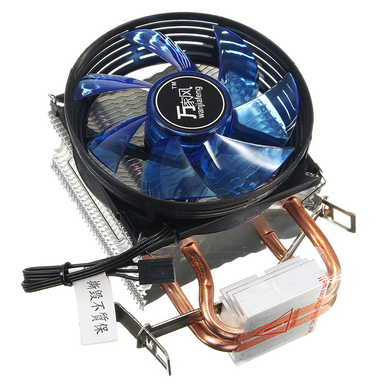 Quiet Cooled Fan Core LED CPU Cooler Cooling Fan Cooler Heatsink for Intel Socket LGA1156/1155/775 AMD AM3 High Quality cpu cooling cooler fan heatsink 7 blade for intel lga 775 1155 1156 amd 754 am2 levert dropship sz0227