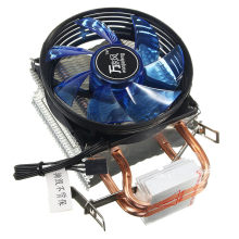 Tenang Kipas Didinginkan Inti LED CPU Cooler Cooling Fan Cooler Heatsink untuk Intel Socket LGA1156/1155/775 AMD AM3 Kualitas Tinggi(China)