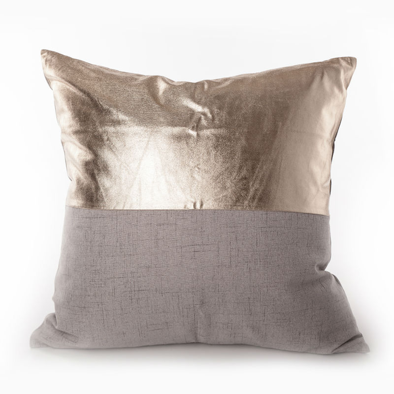 Buy Gold Print Matelic Cotton Pillowcase
