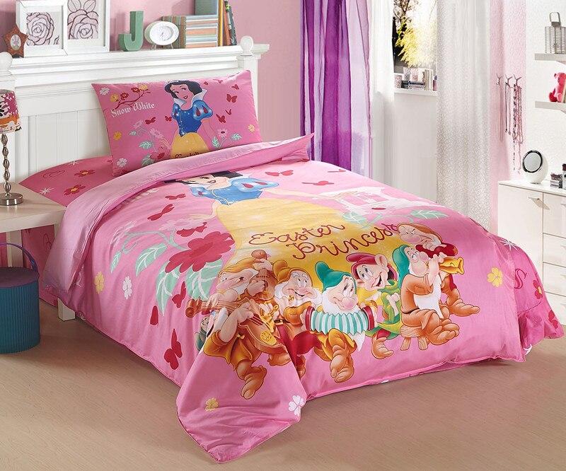 kopen goedkoop disney prinses beddengoed set voor kinderen slaapkamer decor katoenen beddengoed twin dekbedovertrek meisjes thuis textiel sprei volledige