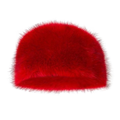 NEW Womens Faux Fur Winter warm Glamorous Cap Ladies Ski Hat Red
