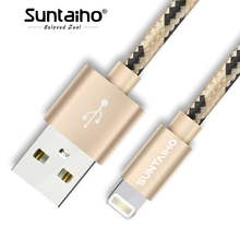 Suntaiho Fast Charger Wire for iPhone 6,1/2/3m Braid Data Charger for iPhone X 7 8 Lighting Cable for iPhone Charger Phone Cable