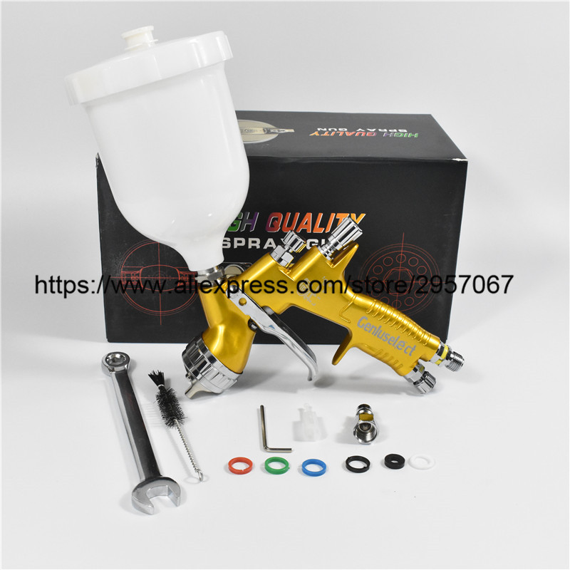 Professional GTI pro lite Golden Painting Gun TE20 1 3mm nozzle spray gun paint gun water