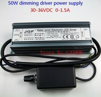 IP67 Waterproof 50W Dimmable Constant Current LED Driver With Dimmer AC To DC25V 36V 0 1