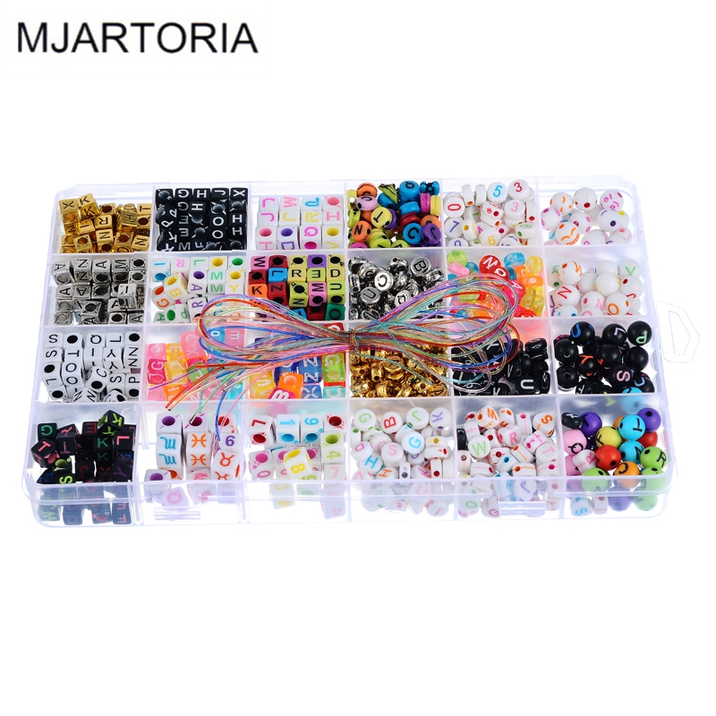 Buy 1set acrylic letters beads set for for Craft kits for kids in bulk