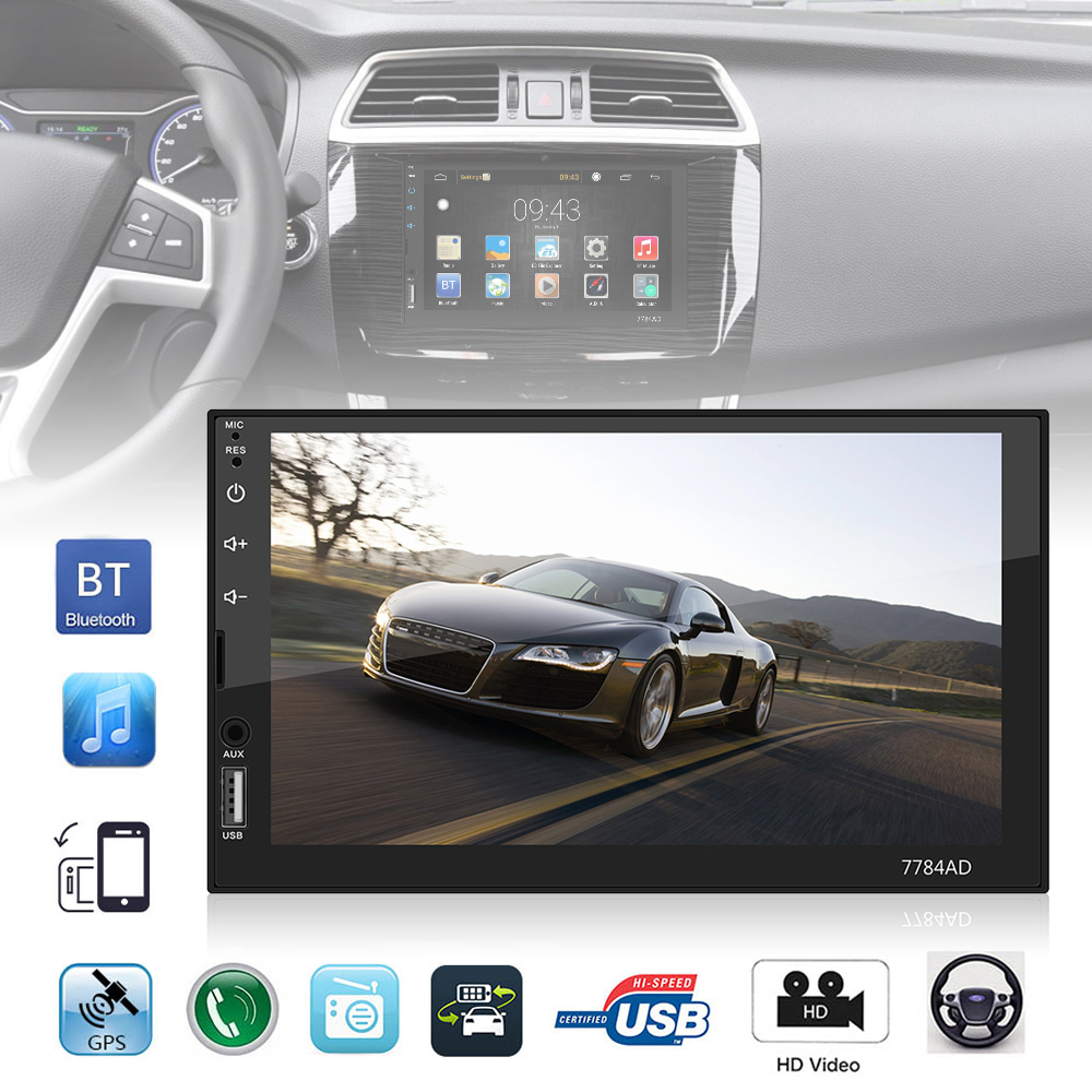 7 Inch QUAD Core Android 7 1 2 Din Bluetooth Car FM Radio Stereo Player Touch