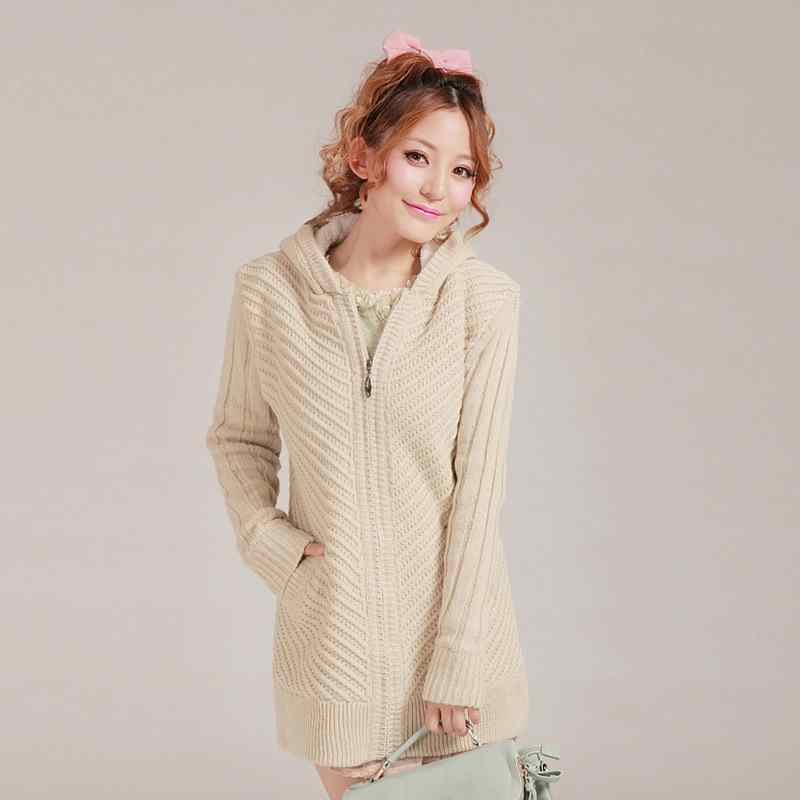 2014 new ladies heavy cashmere sweater coat women long bifold ...