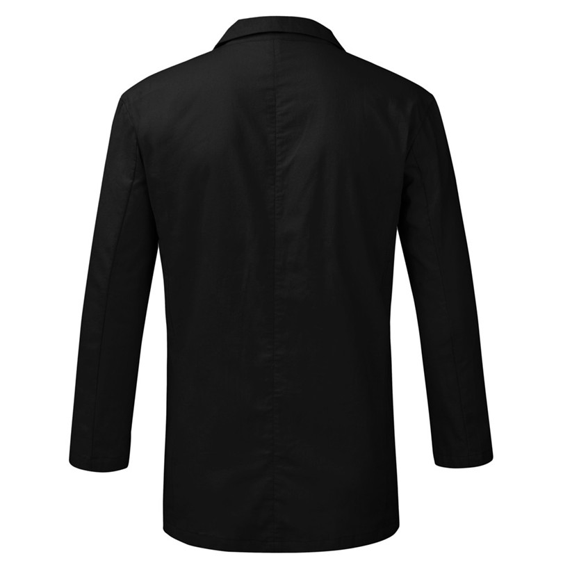 New 2019 Summer Men Slim Fit Linen Blend Casual Blazer Pocket Solid Long Sleeve Suits Blazer Jacket Outwear #E09 (8)