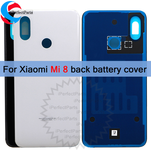 differently 6178d ff1f3 US $14.9  Rear cover Xiaomi mi 8 Back Battery Cover Rear Door Housing Case  Glass Panel mi 8 Replacement For 6.21