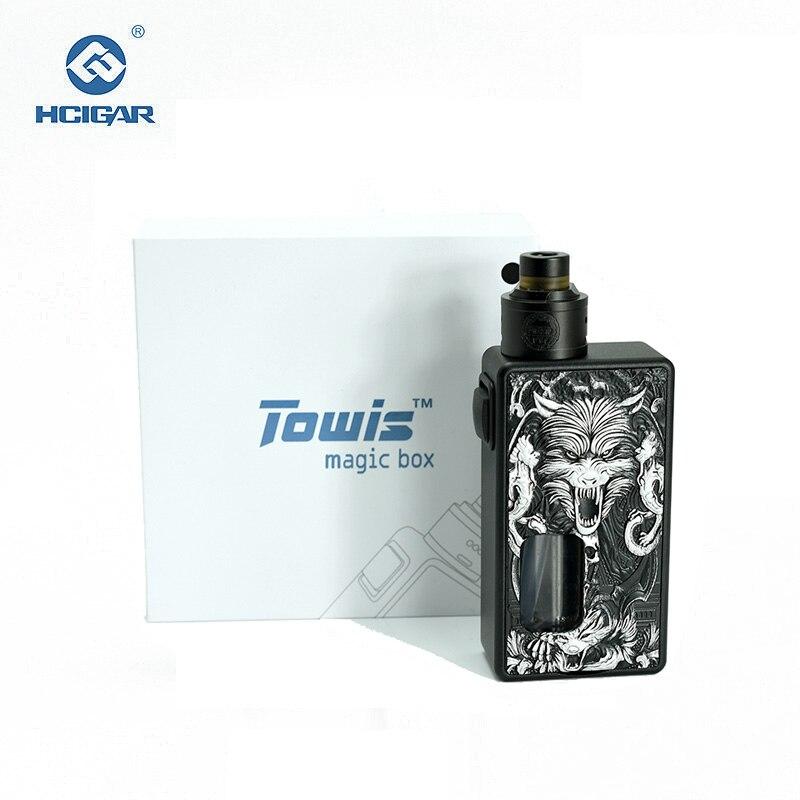 D'origine HCIGAR Towis boîte magique squonk Mécanique kit avec Labyrinthe 1.1 Vaporisateur 18650 Batterie mech Kit Électronique cigarettes