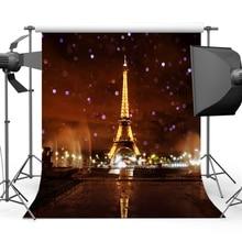 Mehofoto Glitter Bokeh Eiffelova věž pozadí pro fotografii Pairy romantické fotografické pozadí pro fotografování Studio Y-211