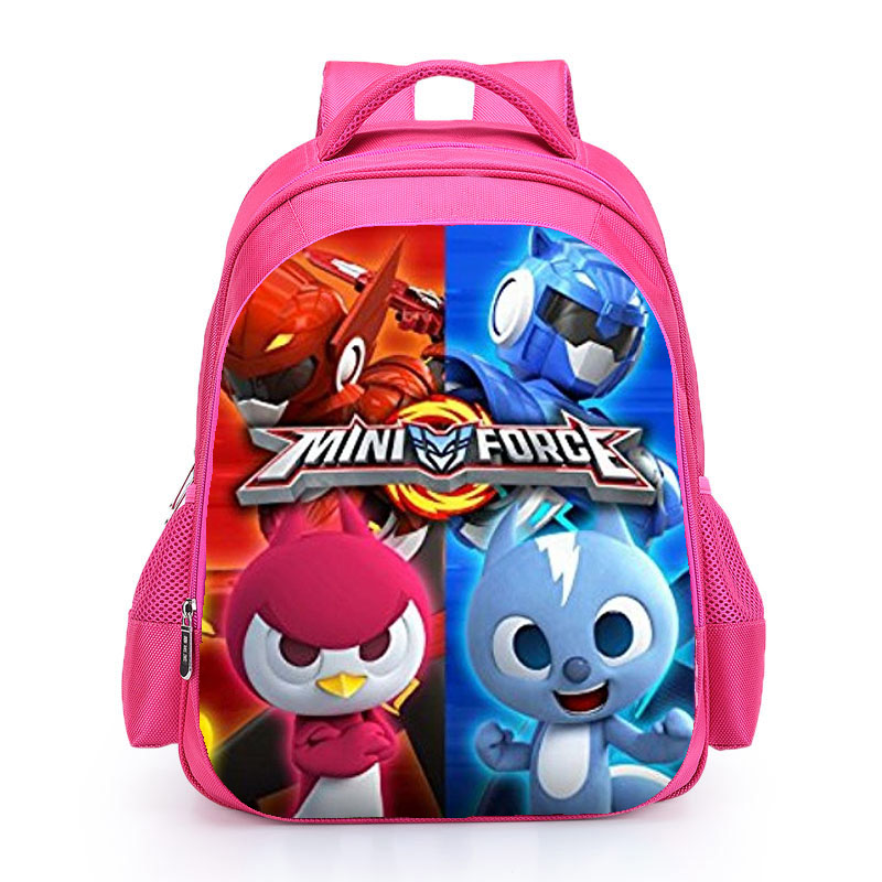 KWD Miniforce lucky Max School Bag Kids Carton Hero SchoolBag Kids Book Bags Pupil Backpacks for Boys Girls Pink Black Mochila 3