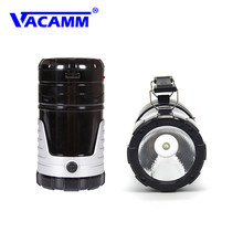 Vacamm Camping Light LED Solar Powered Lantern USB Led Night Light Outdoor Lamp Portable Lantern Rechargeable Tourist Lights(China)
