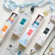 6pcs/lot Cute Washi Masking Tape Character Love Note Washi Tape Scrapbooking Transparent Masking Tape Decorative Adhesive Tapes