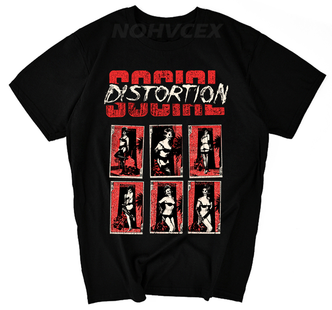 Fashion Official Social Distortion <font><b>Vintage</b></font> <font><b>1979</b></font> Printed Men'S Fashion T Shirt Customize Printed Short Sleeve Tees image