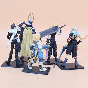 Image 2 - 5pcs/set 11 18cm Final Fantasy PVC Figures Collectible Model Toys Cloud Strife Squall Leonhart Tidus Warrior of Light Zack Fair