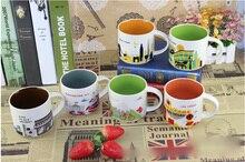14 unze Keramik Kaffeetasse, Teetasse, Sie Sind Hier Stadt Sammlung Amerika Stadt Tasse Bone China