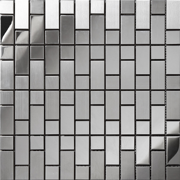! Silver Strip stainless steel mosaic tiles meshback kitchen backsplash Home hallway artdecor metal wallpaper,SA054
