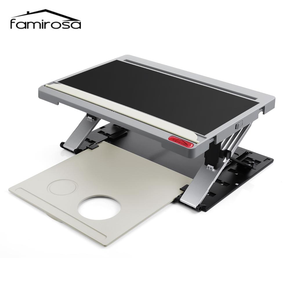 Famirosa Portable Computer Desk Tablet Holder Adjustable Viewing Angle Multifunctional Standing Laptop Desk For Home Office