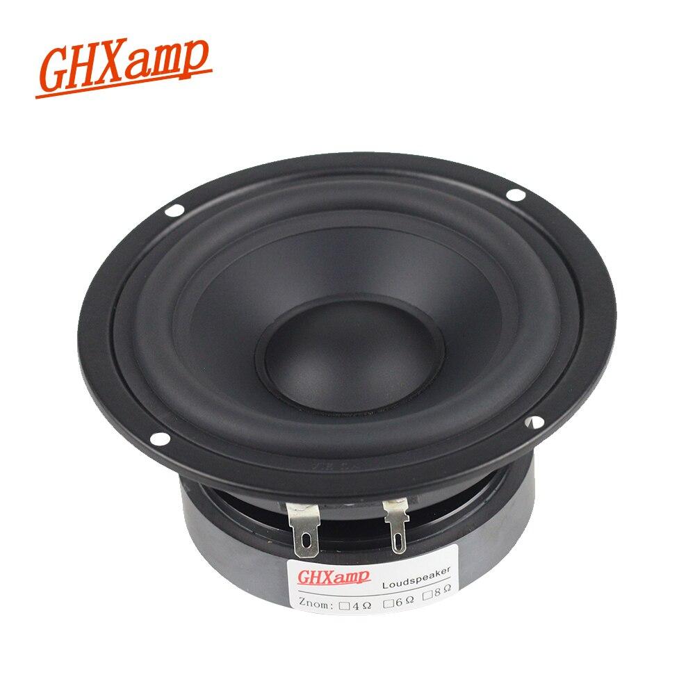 GHXAMP 4 INCH 8OHM 40W Pure Midrange Speaker Unit Alto Speaker Mediant HIFI Bookshelf MID Units Metal Fully Sealed DIY 1PC