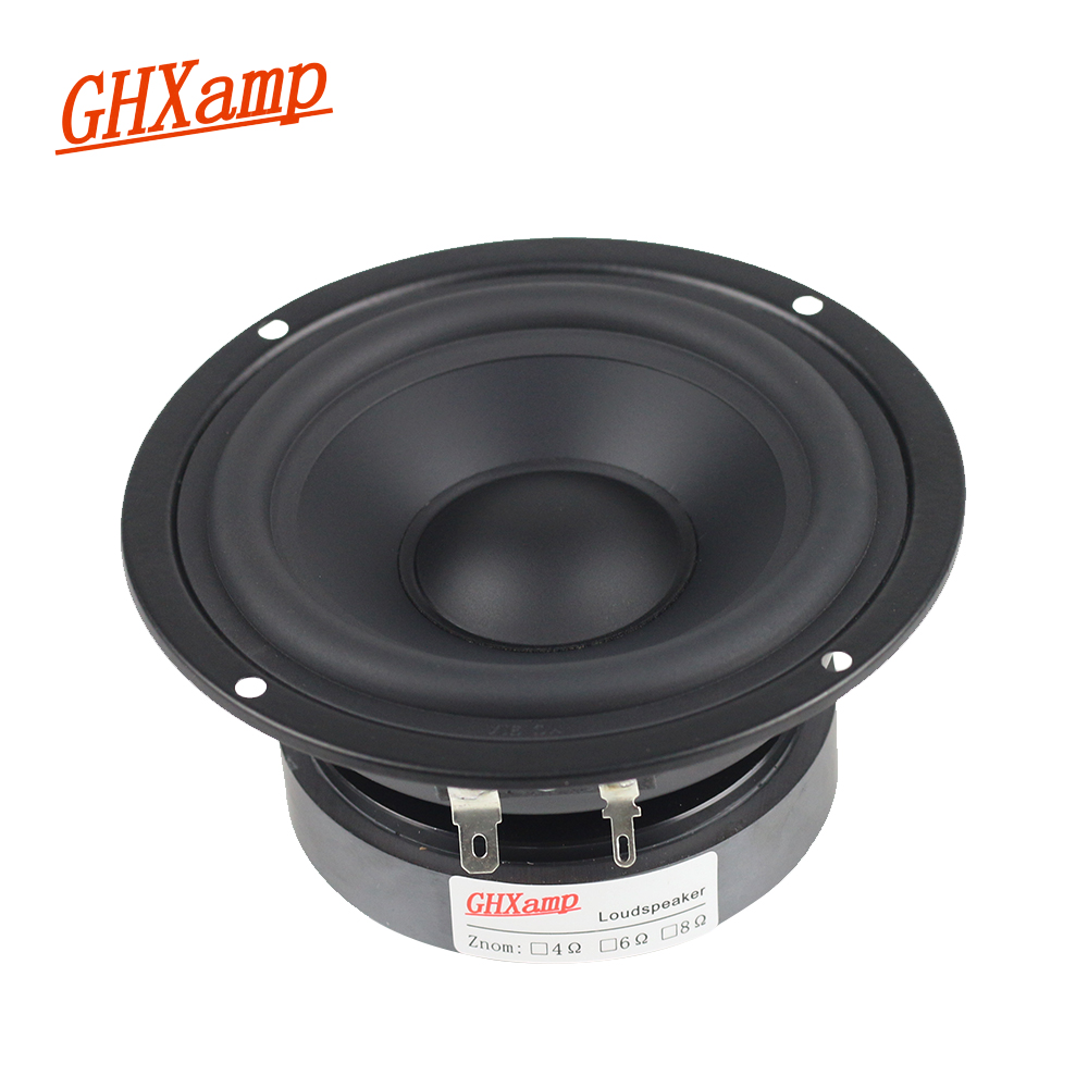 GHXAMP 4 INCH 8OHM 80W Pure Midrange Speaker Unit Alto Speaker Mediant HIFI Bookshelf MID Units Metal fully Sealed DIY 1PC
