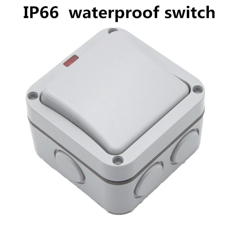 Ip66 Outdoor Waterproof Switch Outdoor Garden Indoor