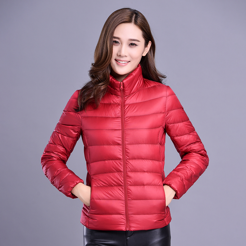 Plus Size  Brand 90% White Duck Down Female Zip Pocket Parkas Ultra Light Jackets Women Autumn Winter Down Jacket Coat 7xl