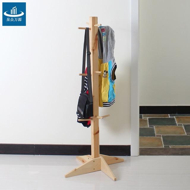 solid wood floor coat rack hanger fashion creative children coat hangers ikea special multizone