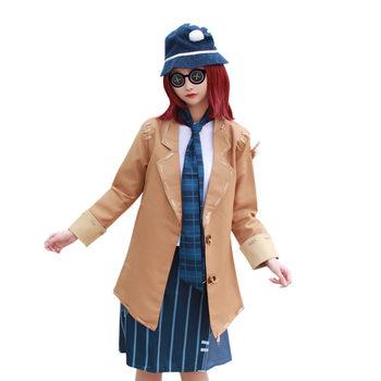 Wysokiej jakości Helena Adams Cos Identity V Cosplay z grą kobiece przebranie na karnawał 5w1 koszula + płaszcz + spódnica + szalik + czapka tanie i dobre opinie kostiumy WOMEN Kurtki Spódnice Zestawy POLIESTER GAME NoEnName_Null