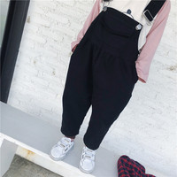 Children's Wear 2019 Spring New Korean Girl Black and White Twill Trousers Children Trousers Loose