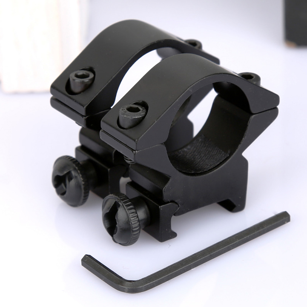 "1 Par 2 pcs Tactical Low Profile 25.4mm 1 ""Âmbito Barril Fit 20mm Picatinny Weaver Rail Mount Titular Para Rifle Scopes Laser"