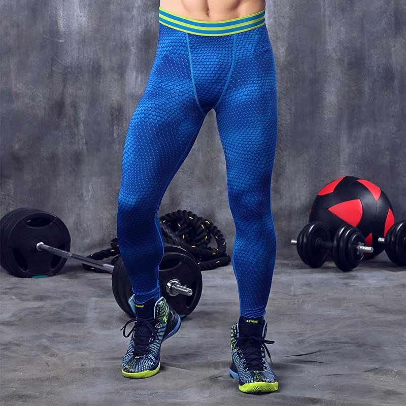Hombres ejercicio legging pro compresión Quick Dry gym fitness Workout ropa  deportiva deporte Yoga bodybuilding pantalón Mallas para correr ma22 b955ff2276fa