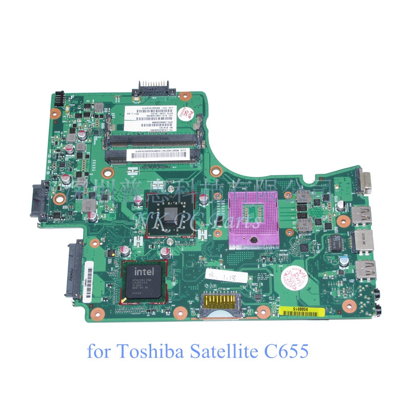 V000225080 Motherboard for Toshiba Satellite C655 C650 Main board / System board GL40 DDR2 v000225070 main board for toshiba satellite c650 c655 laptop motherboard 1310a2355303 gm45 ddr3 free cpu