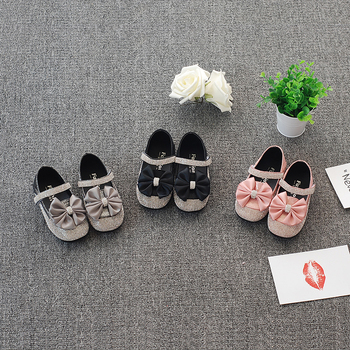 Bekamille בנות עור נעלי סתיו אופנה יהלומי Bowtie ילדים בנות נסיכת נעליים אחד פעוט בנות סניקרס SL016