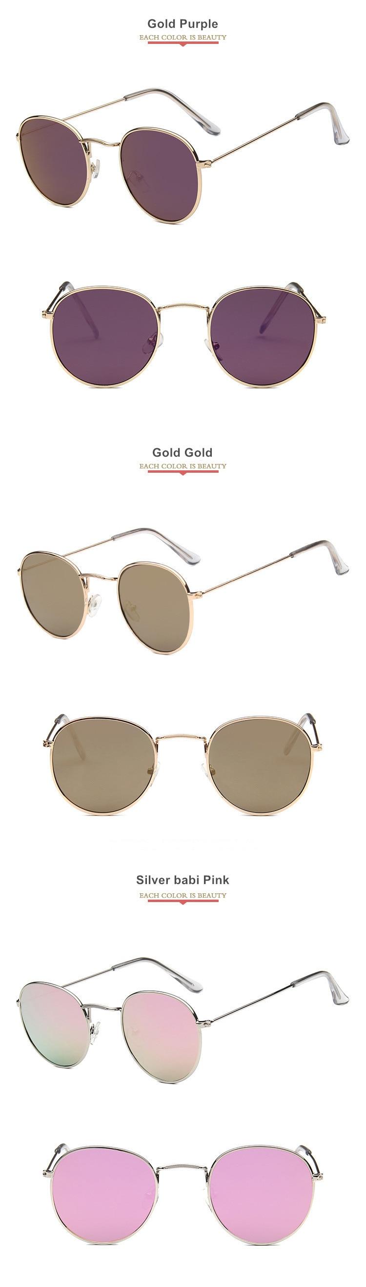 Mirror Round Sunglasses Men Women  10