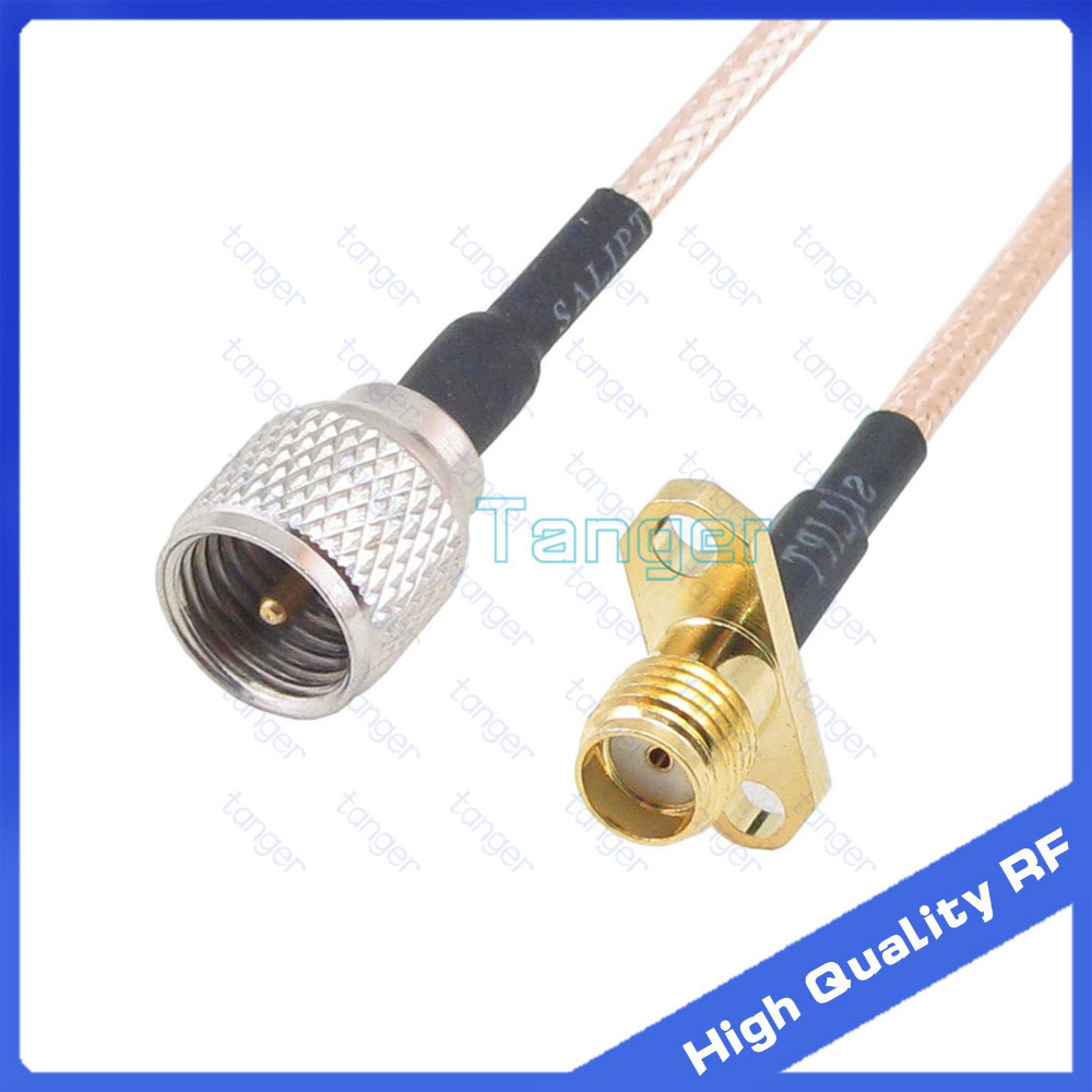 Tanger Mini UHF male plug PL259 to SMA female jack 2 hole panel connector with 20cm 8in 8 RG316 RG-316 RF Coaxial Pigtail cable tanger so239 mini uhf female jack to sma male plug right angle with 20cm 8 rg316 rf coaxial pigtail low loss cable high quality