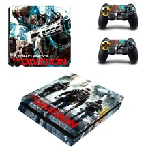 Tom Clancy's The Division Protector Vinyl Skin for Play Station 4 Slim Console + 2 Controller PS4 Slim S Skin Sticker